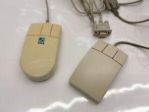 2x Retro PC Computer Kugelmaus Mouse Serial Seriell 486er Logitech