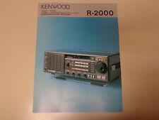 Kenwood Communications Receiver R-2000 Advertising Flyer 1970's Amateur Radio