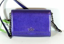 New Kate Spade Cameron Street Metallic Cami Regal Plum Bag Crossbody Clutch