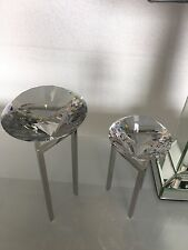 Small Glittering Sparkling Cut Glass Faceted Diamond Stand Statement Art Decor