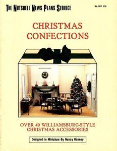 Dollhouse Miniature Christmas Confections Instructional Book BOY116
