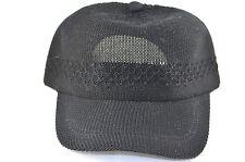 Mesh Crocheted Baseball Cap-black
