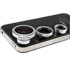 3in1 Fisheye Lens + Wide Angle + Micro Lens photo Kit Set for iPhone 4 4S 5