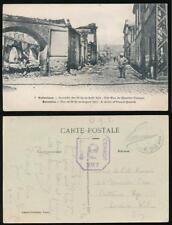 GREECE 1918 SALONICA APO R28 LAHANA CENSOR 297 PPC FRENCH QUARTER STREET