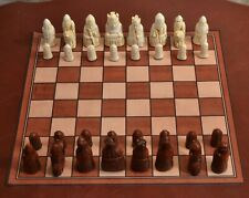 """ISLE OF LEWIS CHESS SET with DURABLE 17 inch MAT - K= 3.5"""" (roswd) 706 new"""