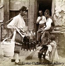 Ice Cream Merchant, Constantinople, Turkey - 1898 - Historic Photo Print