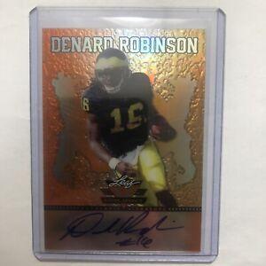 2013 Denard Robinson Leaf Valiant Draft Orange Autograph - Card #BA-DR1(32/50)