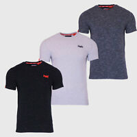 Superdry Mens New Orange Label Crew Neck Short Sleeve T Shirt Charcoal Black