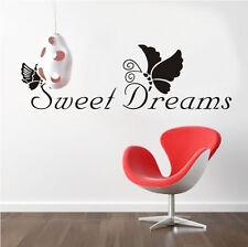 Wandtattoo Wandsticker Traum Sticker Aufkleber Kind Schmetterling Schlafzimmer