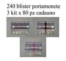 2dcb4fc33a Blister per monete euro contenitori monete euro 240 pezzi 3x80 1,2,5 cent