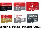 Sandisk Micro SD Card 128GB 256GB 512GB 1TB Extreme Pro Ultra Memory Cards lot