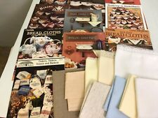 19 pc lot counted cross stitch bread cloths + leaflets