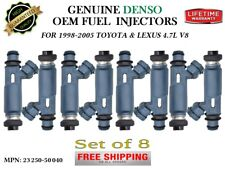 8x Fuel Injectors OEM DENSO HP Upgrade For 2000-05 Toyota Tundra 4.7L V8