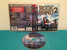 Rock Band 2 (Sony PlayStation 3, 2008) Case & disc