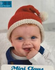 Knitting Pattern for Babies Christmas Santa Hat. To Fit Birth To 9 Months