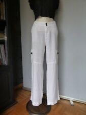 COMPTOIR DES COTONNIERS Pantalon large LIN blanc T 40 très bon état