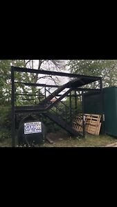 Large Steel Staircase Mezzanine Stair Case Shipping Containers Steps