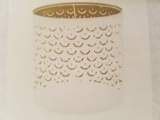 """IKEA NYMO Lamp Shade White Brass color 9"""" One New One Used"""