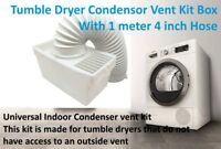 Logik 4 inch Tumble Dryer Condenser Air Vent Kit White Indoor Box