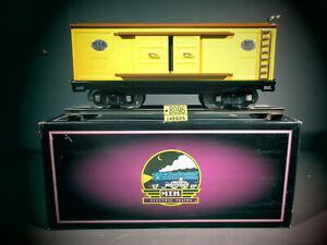 MTH Tinplate Traditions 214  BOX Car Item  10-201 YELLOW & BROWN  O.B. C-8.