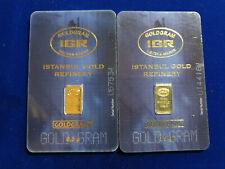 🔥 (2) 0.5 gram GoldGram Fine Gold 999.9 Certificate Istanbul Refinery IGR (1 g)