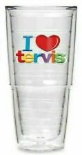 RARE 'I LOVE TERVIS' Tumbler 24oz Red Heart Rainbow Double Wall Insulated Cup