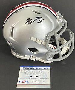 Master Teague III Signed Autographed Ohio State Buckeyes Mini Helmet Psa/Dna