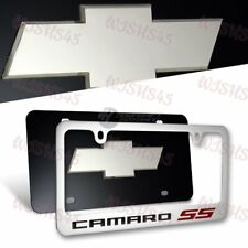 Chevrolet CAMARO SS stainless Steel License Plate Frame -2PCS Front & Back Set
