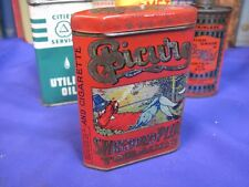EPICURE TOBACCO TIN VERTICAL UPRIGHT POCKET CAN  ANTIQUE U S TOBACCO CO 1908