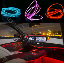 Neon LED Strip Light Glow EL Wire String Car Interior Atmosphere Rope Tube Lamp