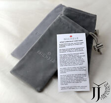 With Care Guide 18 Units Pack New Michele Watch Strap Storage Gray Pouch