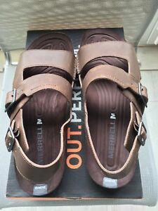 Merrell Downtown Backstrap Buckle Leather Sandals  Men's Size 13(US)
