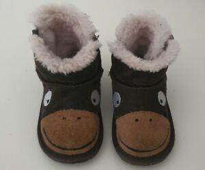 EMU AUSTRALIA Monkey Tail Walker toddler baby shoes Merino Wool 12-18 months