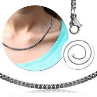 Gliederkette Venizianerkette Halskette Damen Ketten Silber Anhänger Edelstahl