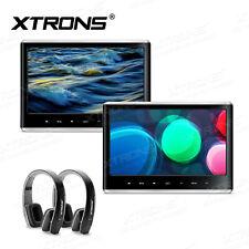 """11.6"""" 1080P Car Headrest Monitor Pillow DVD MP5 Player HDMI Games IR Headphones"""