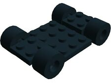 Lego Vehicle Chassis Frame 7x4 Black Classic Town City Car Racing Go Cart New