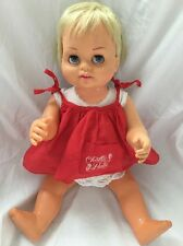 Vintage Mattel CHATTY BABY Doll Canadian Peachy Skin