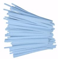 100 White Pipe Cleaners Stems Chenille Craft 150mm x 4mm 6""