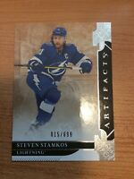 UPPER DECK ARTIFACTS 2019-2020 STEVEN STAMKOS HOCKEY CARD #138 NUMBERED 015/699