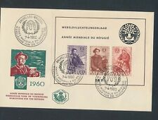 XC09494 Belgium 1960 refugee year FDC used