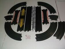 afx tomy aurora slot car track parts lot in nice condition ho 1/64 scale