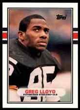 1989  TOPPS TRADED 115T GREG LLOYD STEELERS ROOKIE MINT