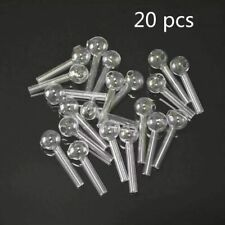 20Pcs Portable Resuable Herb Smoking Glass Pipe Smoking Accessories