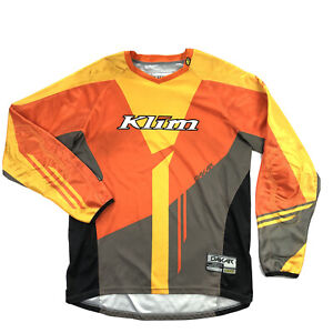 KLIM Dakar Mens Medium Orange Yellow Motorcycle Jersey
