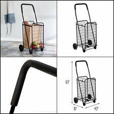 Best Foldable Utility Shopping Cart Jumbo Basket Outdoor Grocery Laundry Wheels