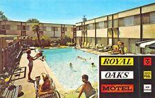 Sherman Oaks CA Royal Oaks Motel Swimming Pool Postcard