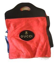 Gucci Shoe Tote Bag Orange Felt vintage