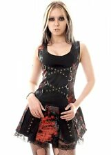 Dead Threads Women's Black Graffiti Gladiator Dress Gothic Punk S