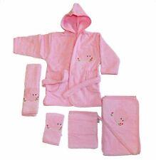Baby Frottee Set Elefant rosa Kapuzenhandtuch Bademantel 5-tlg. 100% Baumwolle