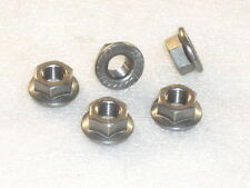 5x M10x1.25mm A4 316 Stainless Steel FLANGE Nuts Metric Fine eg SUZUKI sprocket